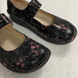 Alegria Floral Paloma Mary Janes Shoes
